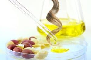 Erdnussöl für die Haare